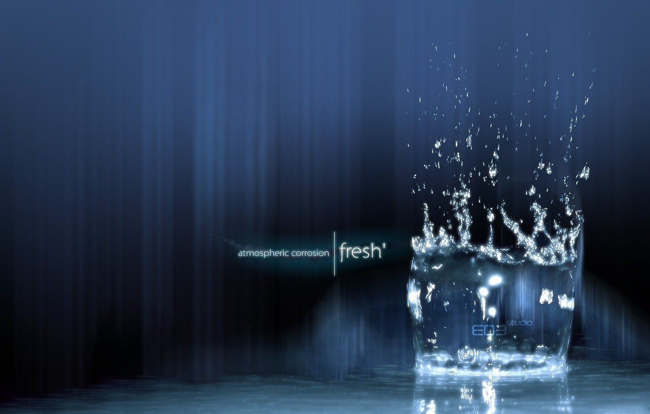 Photo wallpaper drops, squirt, freshness, purity, lights