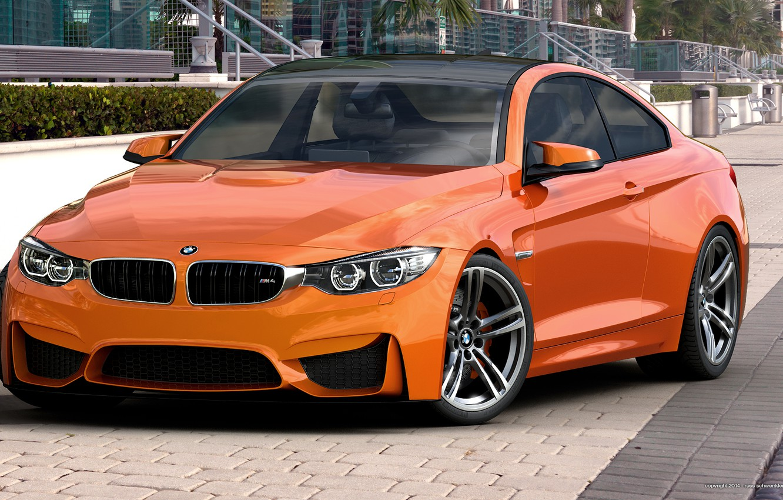 Photo wallpaper BMW, orange, BMW, Orange, Photoshop, Coupe, F82, by dangeruss, 3D Studio MAX, Vray