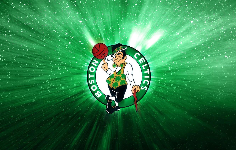 Photo wallpaper Green, Basketball, Logo, Boston, NBA, Celtics