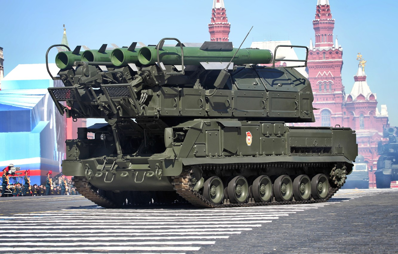 Photo wallpaper May 9, installation, Self-propelled, fire, Victory Parade, Red Square, SAM, Buk-M2, 9А317