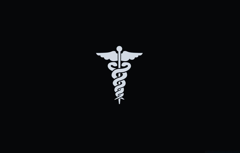Photo wallpaper black, symbol, medicine