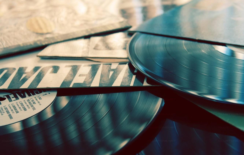 Photo wallpaper music, music, records