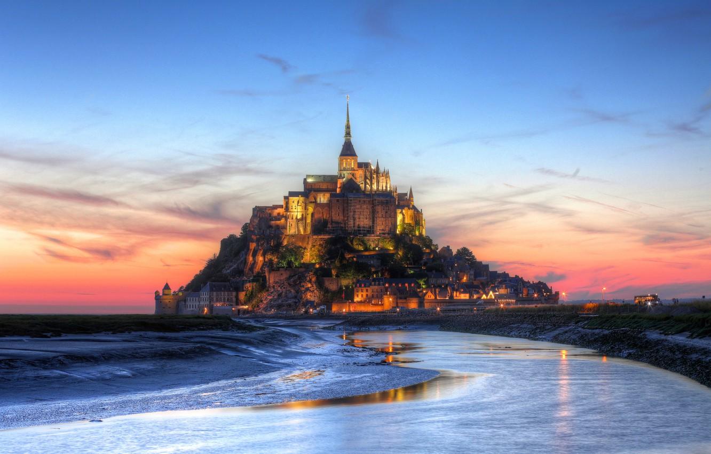 Wallpaper France Fortress Mont Saint Michel Prisma Sky