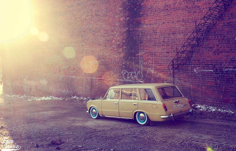Photo wallpaper Lada, vaz, VAZ, lada, Lada, 2102, low classic