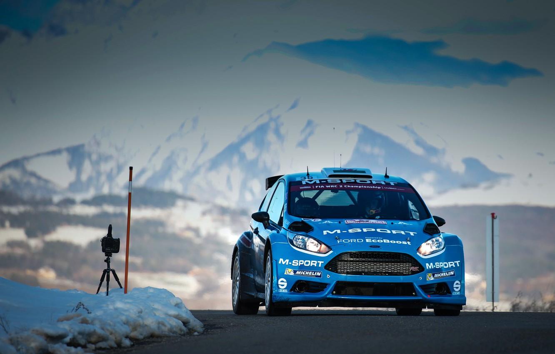 Photo wallpaper Ford, WRC, Rally, Rally, Fiesta, Monte Carlo, 2016, Elfyn Evans