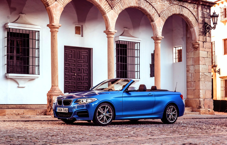 Photo wallpaper BMW, BMW, convertible, Cabrio, UK-spec, 2015, M235i, F23