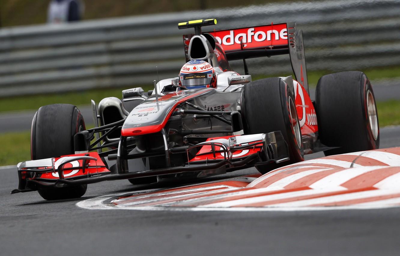 Photo wallpaper McLaren, turn, 2011, Jenson Button, Grand Prix of Hungary