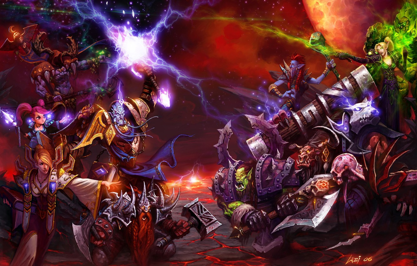 Wallpaper Battle Weapons Race Wow World Of Warcraft Alliance