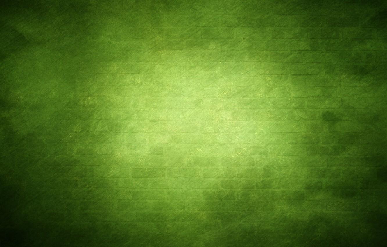 Photo wallpaper green, wall, dark colors, glow, brick, texture