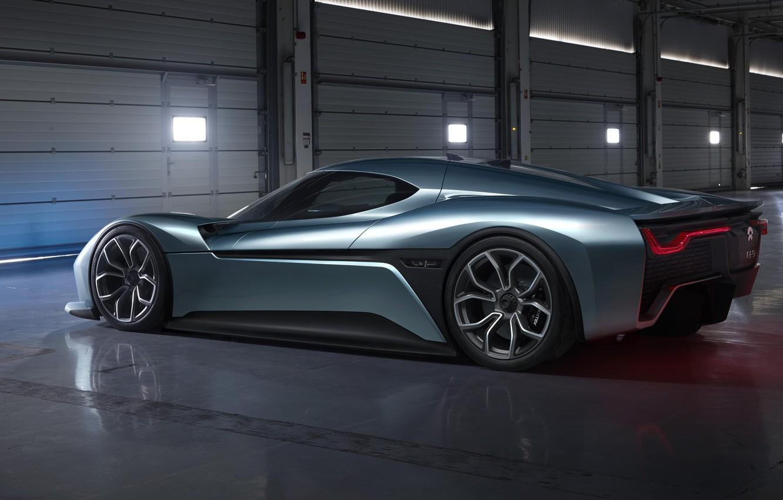 Photo wallpaper car, logo, supercar, design, electric, automobiles, chinese, technology, electric car, Super car, Nio EP9, automobile …