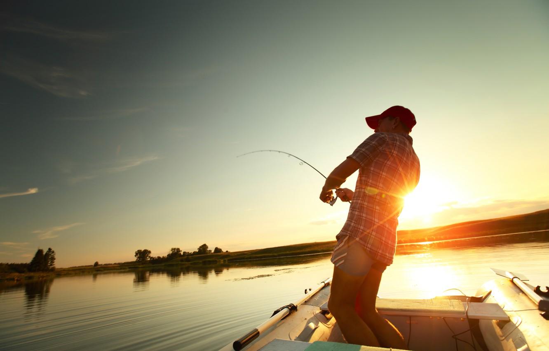 Photo wallpaper fisherman, fishing, equipment