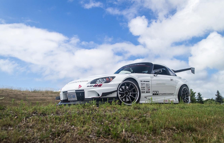 Photo wallpaper Honda, White, S2000, Tuning