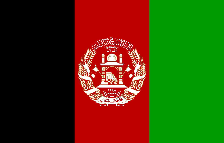 Photo wallpaper green, red, black, flag, afganistan