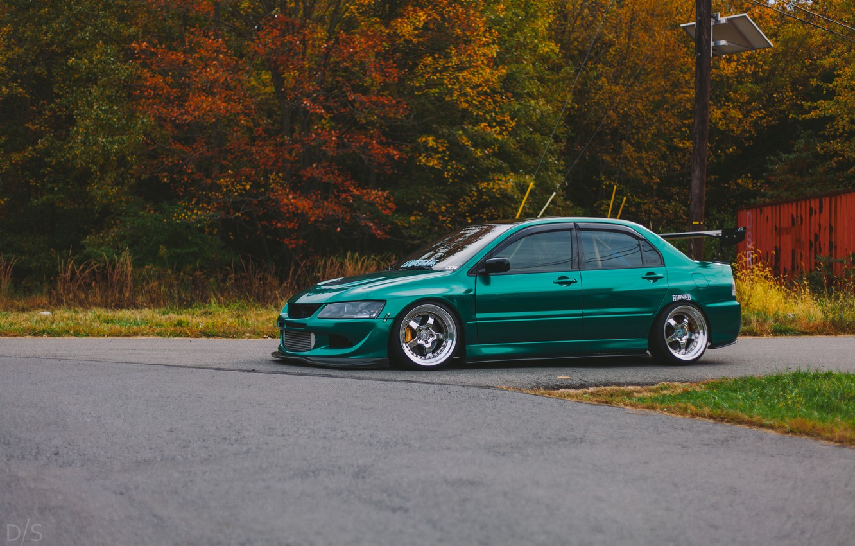 Photo wallpaper Mitsubishi, Lancer, Evolution, Lancer, stance, Evolution, Mitsubishi