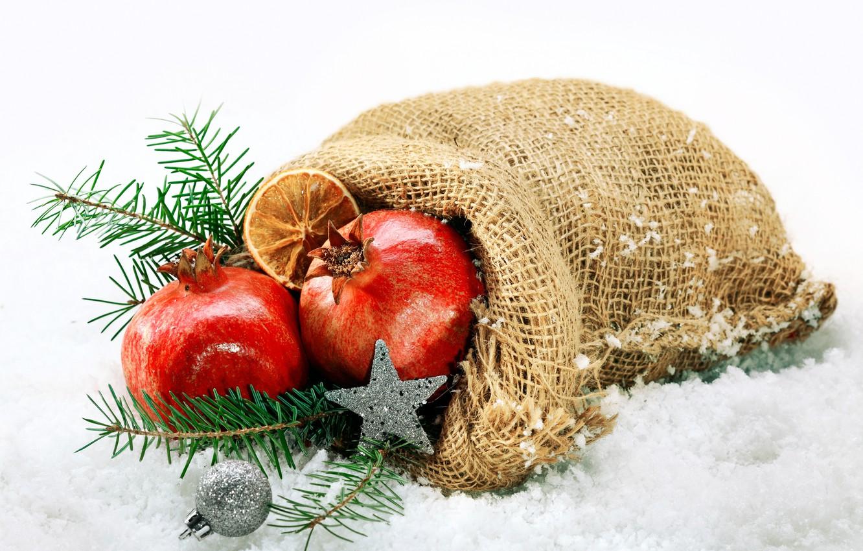 Photo wallpaper snow, holiday, New Year, Christmas