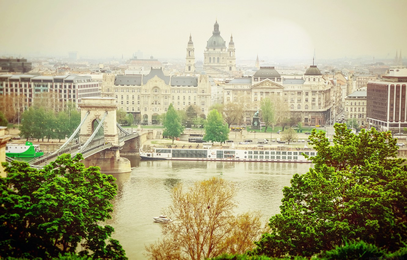 Photo wallpaper water, light, the city, river, the building, lighting, Hungary, Budapest, The Danube, Budapest