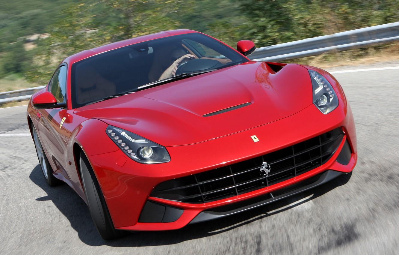 Photo wallpaper movement, turn, Ferrari, berlinetta, the ferrari f12