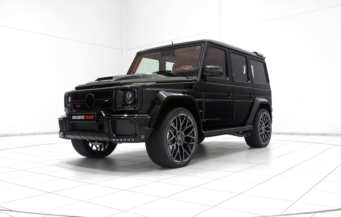 Photo wallpaper black, Mercedes-Benz, SUV, Brabus, Mercedes, BRABUS, g, G-Class, W463