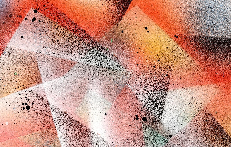 Photo wallpaper squirt, corners, spot, rectangles