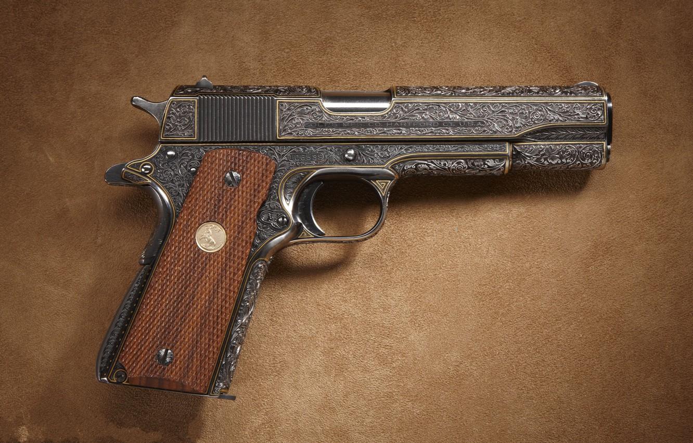 Photo wallpaper Super, Colt, Government, M1911.38, Model2