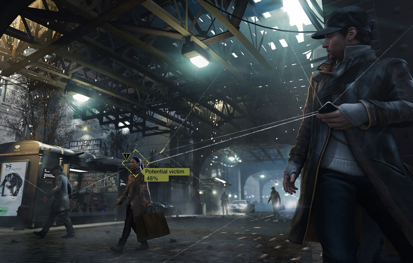 Wallpaper Phone Iphone Phone Ubisoft Watch Dogs Aiden