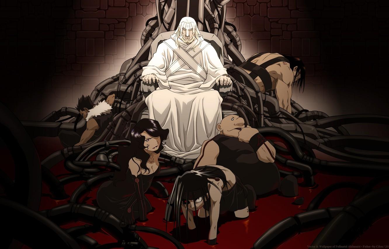Photo wallpaper Homunculus, Alchemist, seven deadly sins, Fullmetal