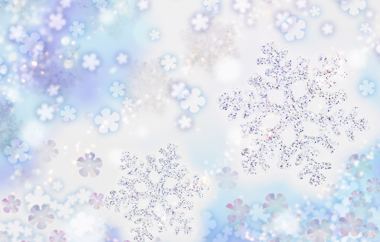 Photo wallpaper cold, snowflakes, holiday, frost