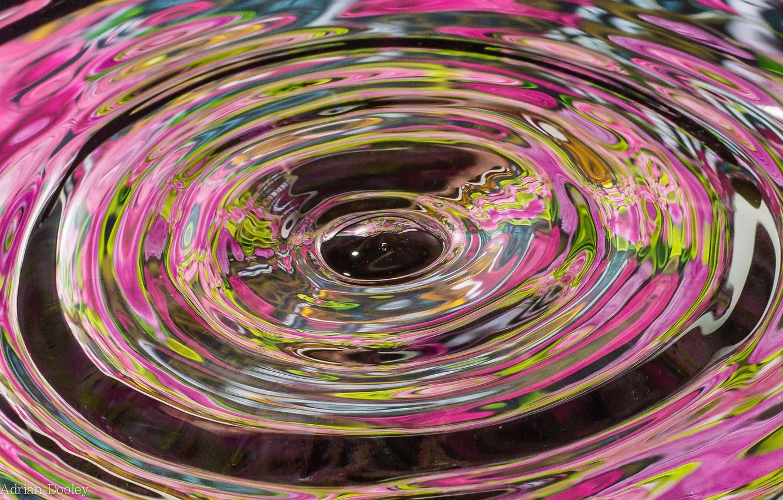 Photo wallpaper wave, water, circles, splash