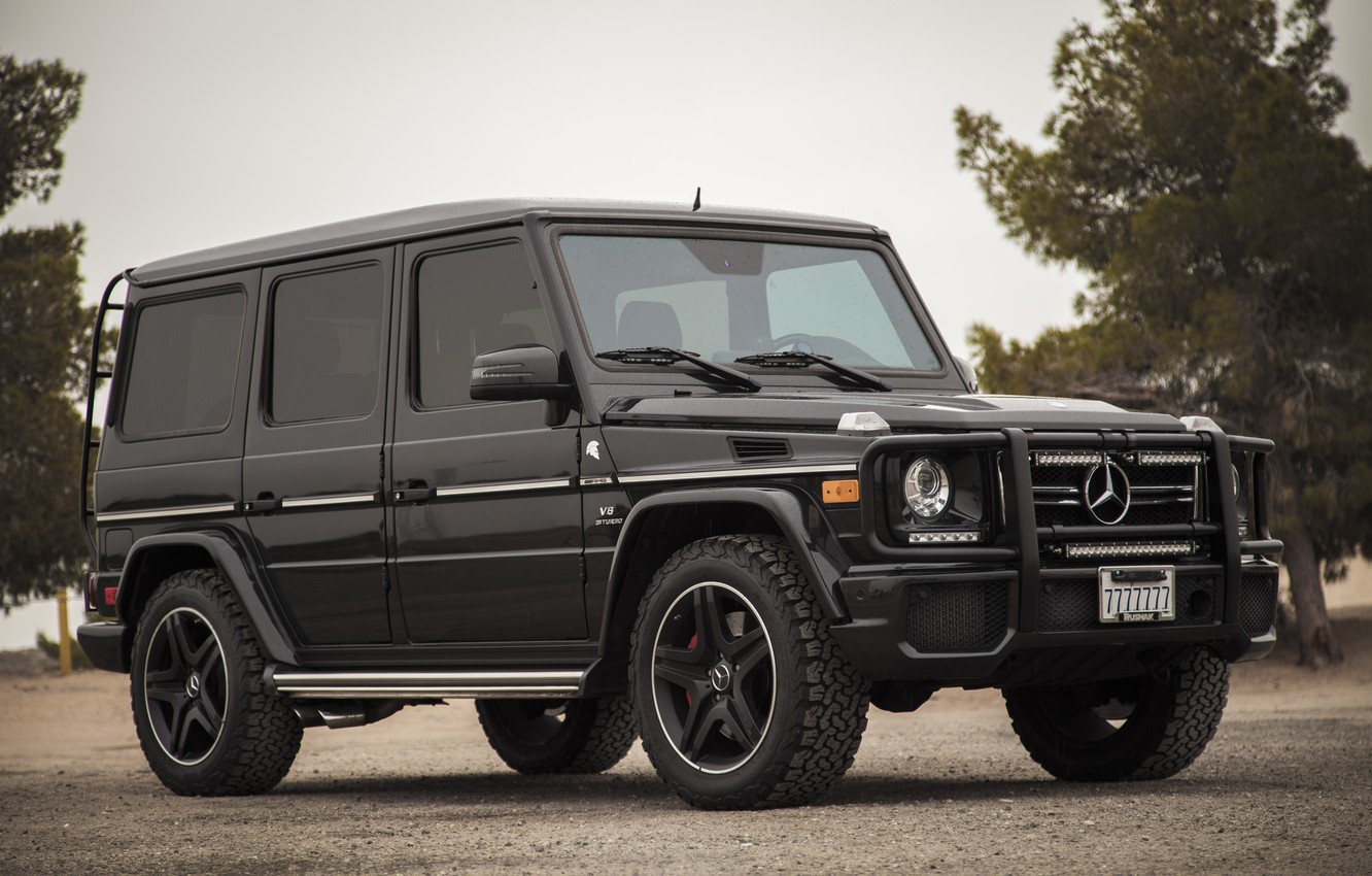 Photo wallpaper black, Mercedes-Benz, SUV, the front