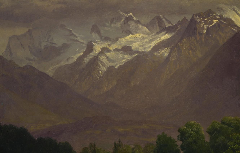 Wallpaper Landscape Picture Albert Bierstadt In The High