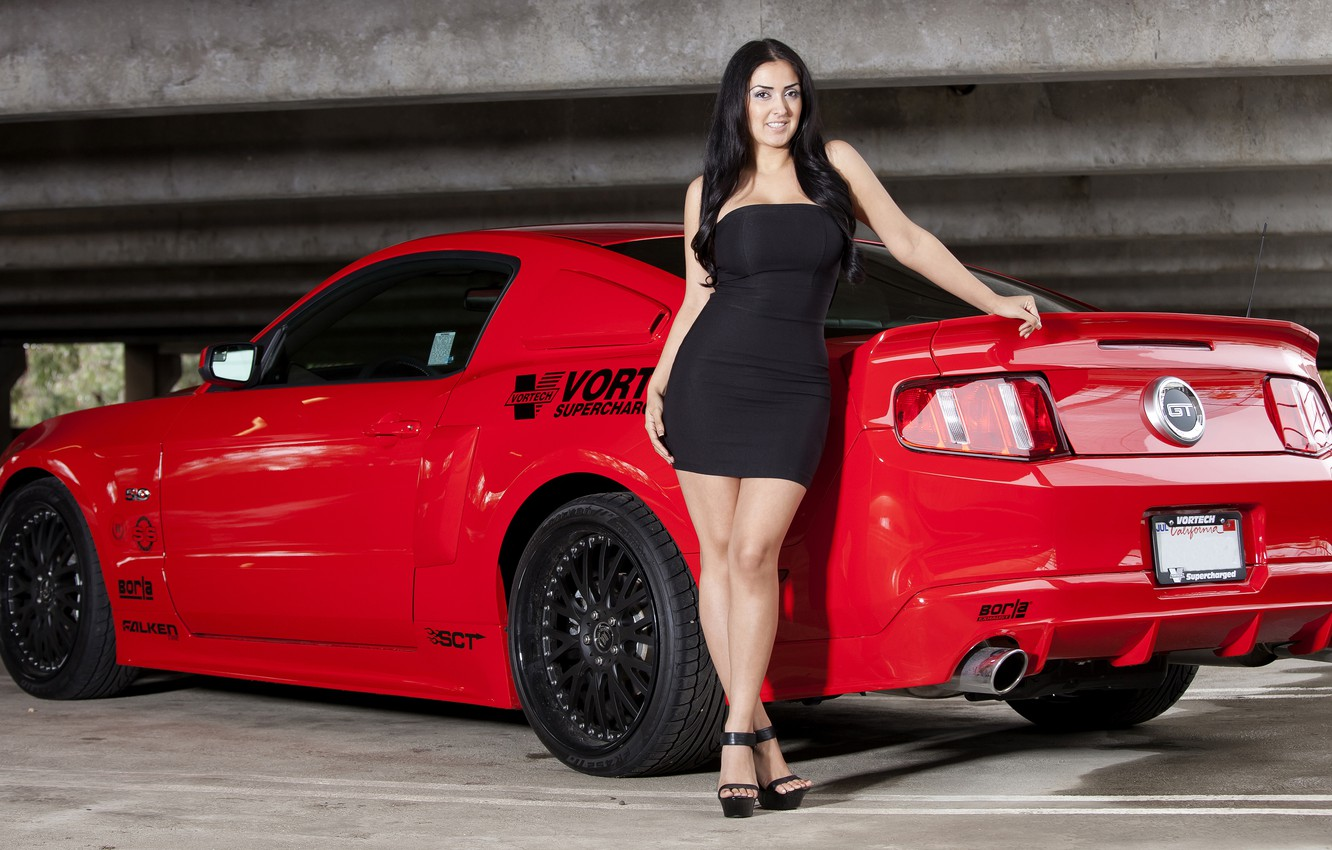 Photo wallpaper Mustang, Ford, Mustang, Ford, Vortech