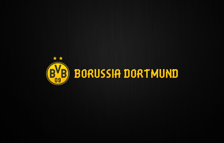 Photo wallpaper Yellow, Sport, Logo, Background, Dortmund, Borussia, Borussia, Dortmund