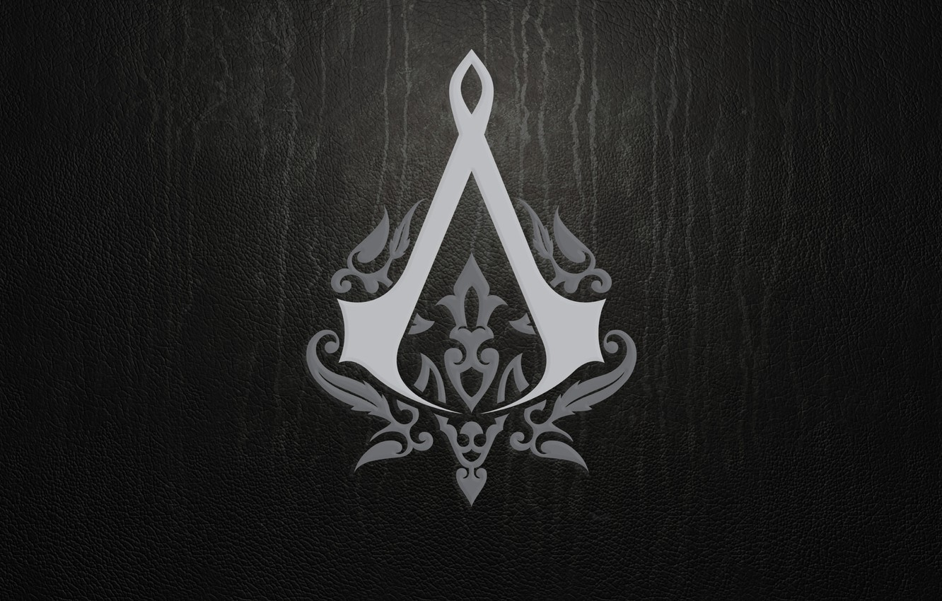 Photo wallpaper sign, the game, texture, logo, leather, emblem, assassins creed