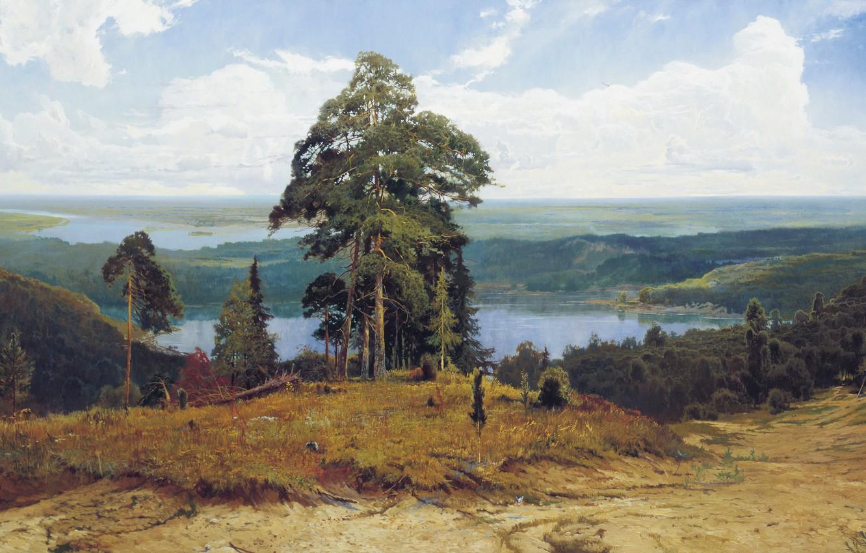 Photo wallpaper trees, nature, lake, Valaam gave, Afonin