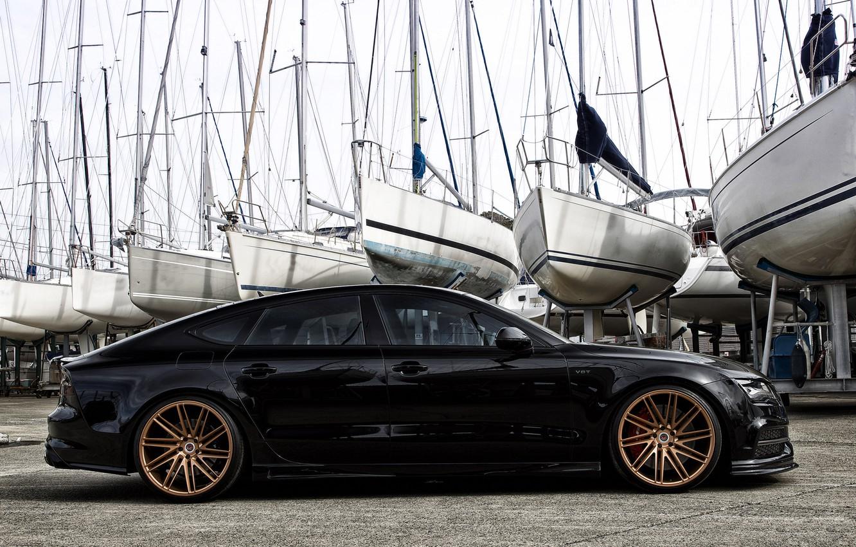 Photo wallpaper Audi, Audi, wheels, vossen, Hamana