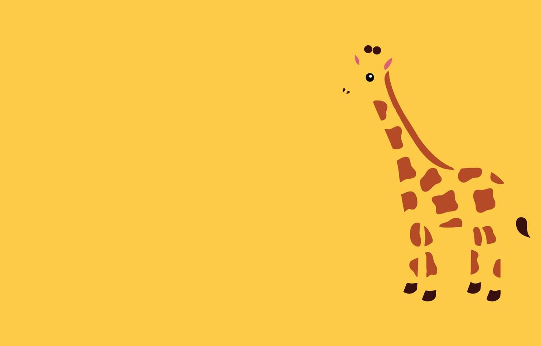 Wallpaper Animal Minimalism Giraffe Images For Desktop Section Minimalizm Download