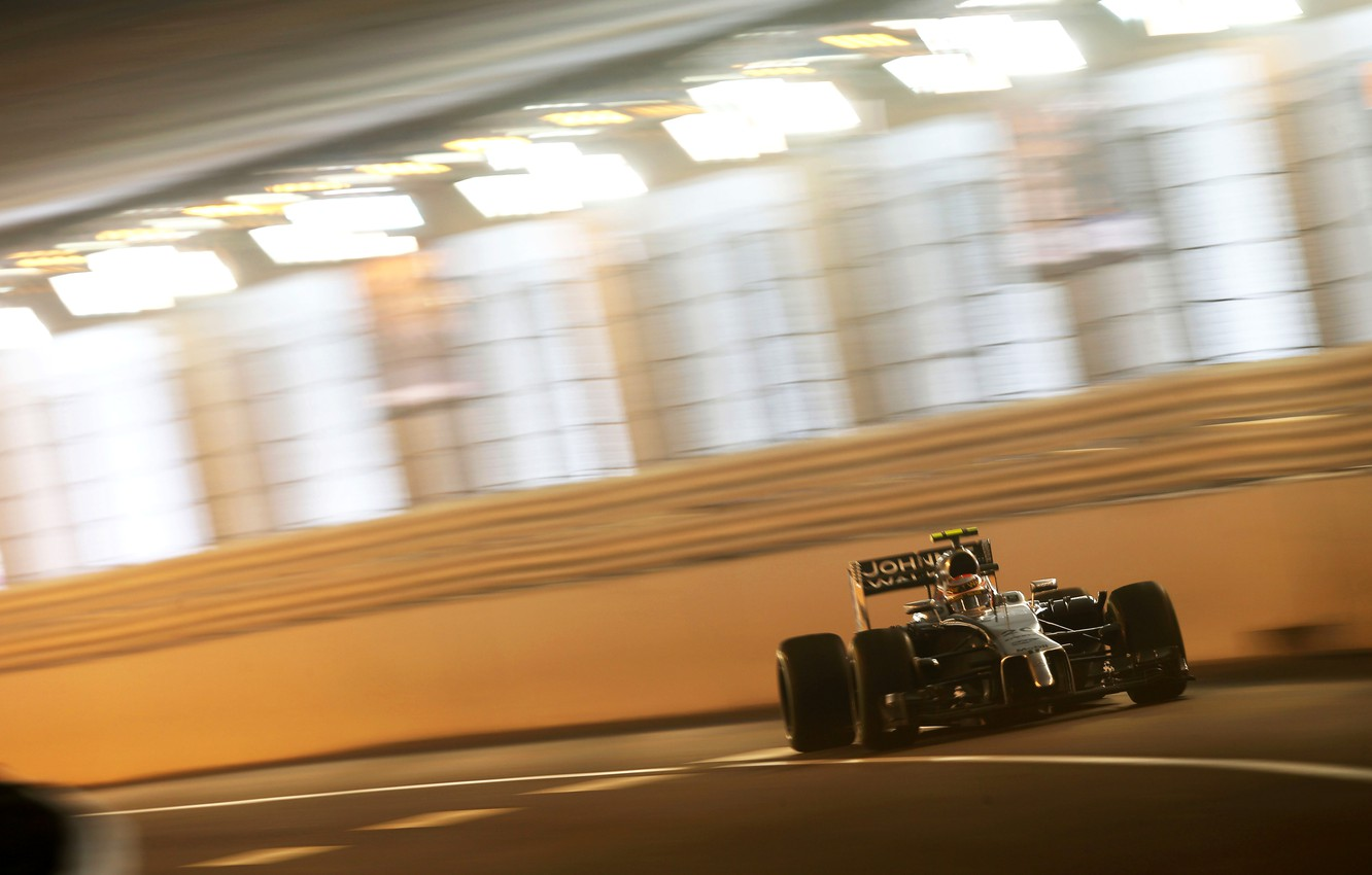 Photo wallpaper McLaren, race, formula 1, Mercedes, the tunnel, Monaco, Motorsport