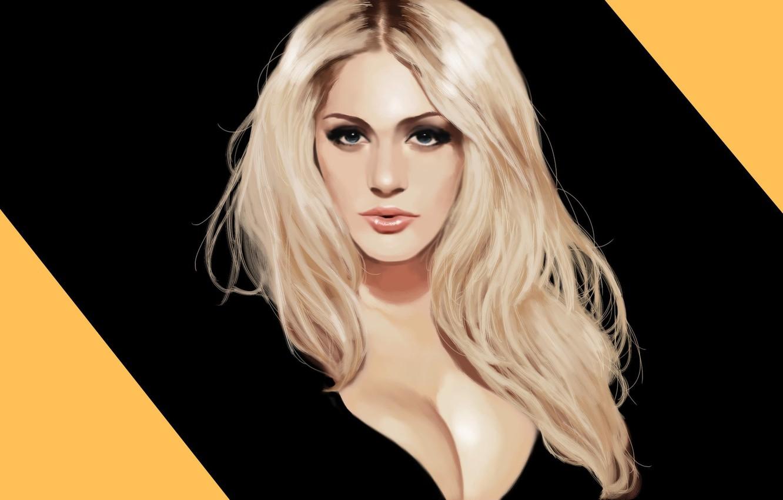 Photo wallpaper girl, blonde, girl, art, model, Nicole Neal, Nicole Neal, speedpaint