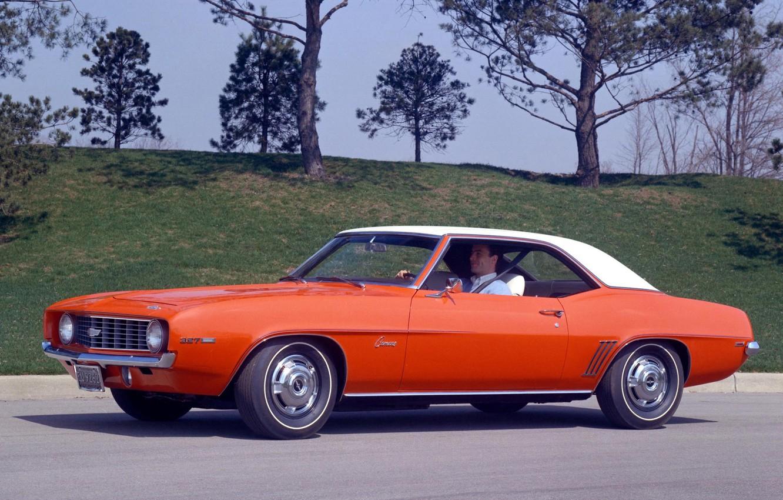 Photo wallpaper retro, Chevrolet, 1969, Chevrolet, Camaro, 327