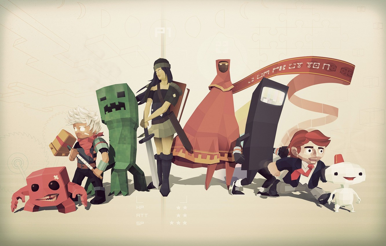 Photo wallpaper game, game, indie, games, minecraft, indie, super meat boy, bastion, bit trip runner