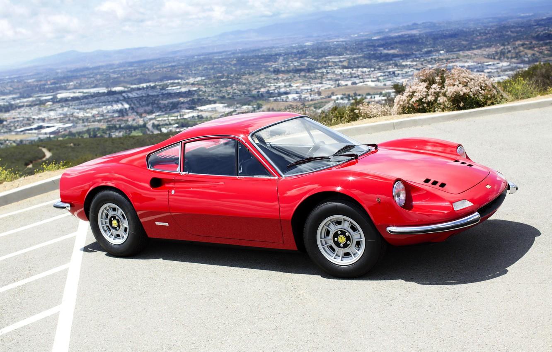 Photo wallpaper 1971, Ferrari, Ferrari, Dino, Pininfarina, Dino, 246 GT, Series E