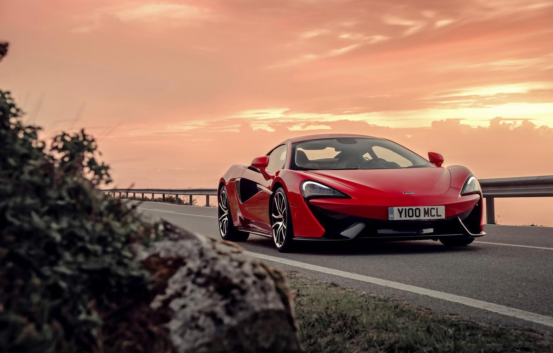 Photo wallpaper sunset, McLaren, the evening, supercar, McLaren, 570S