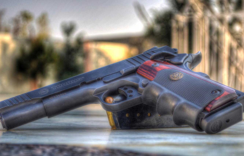 Photo wallpaper pistol, M1911, Taurus, version, 45 Cal