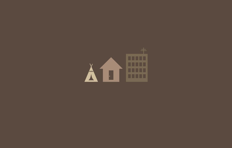 Photo wallpaper house, evolution, wigwam