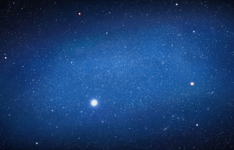 Photo wallpaper space, stars, lights