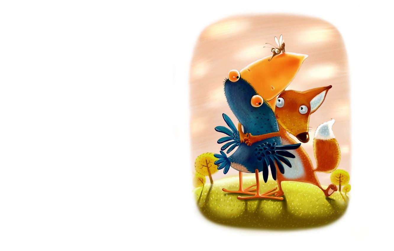 Photo wallpaper art, illustration, children's, Igor Farbaniec, Tales Of The Little Fox