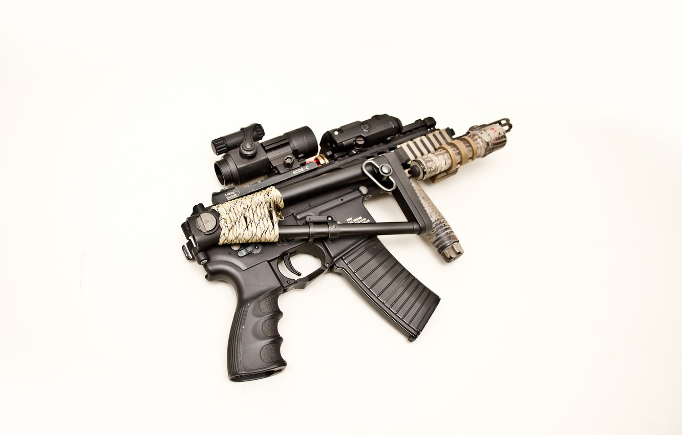 Photo wallpaper weapons, background, carabiner, automatic, butt, HANGOVER PDW, with a short