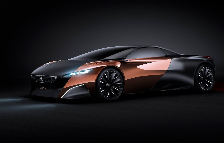 Photo wallpaper Concept, Peugeot, black, Onyx