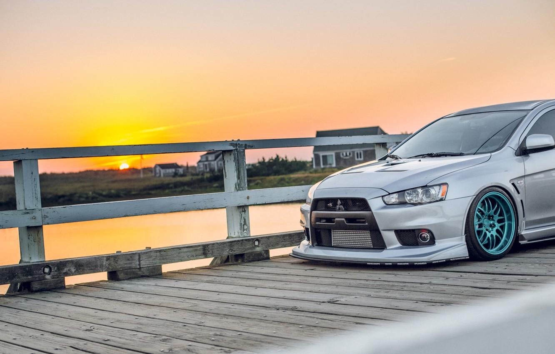 Wallpaper Sunset Tuning Lancer Mitsubishi Mitsubishi