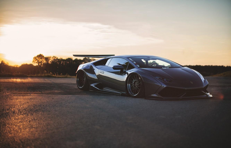 Photo wallpaper light, tuning, Lamborghini, Huracan